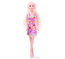 Кукла Ася блондинка в платье в горошек, А-Стиль, Ася
