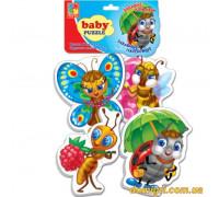 Беби-пазлы Забавные насекомые (VT1106-06 VladiToys)