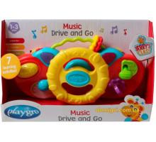 Развивающая игрушка Музыкальный руль, желтый, Playgro