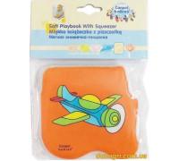 Книжечка-игрушка мягкая пищалка Самолет (2/710 Canpol babies)