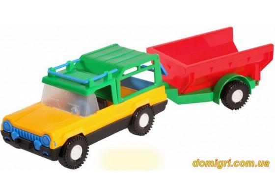 Машинка авто-сафари с прицепом (39006 Wader)