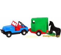 Машинка авто-джип с прицепом (39007 Wader)