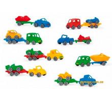 Авто с прицепом Kid Cars Sport, Wader