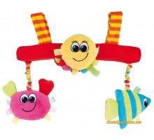 Іграшка м'яка на коляску різнокольоровий океан (риба, краб, восьминіг), Canpol babies