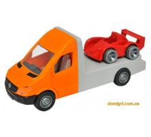 Автомобиль Mercedes-Benz Sprinter (оранжевый эвакуатор), 1:24, Тигрес