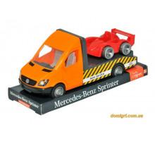 Mercedes-Benz Sprinter эвакуатор (оранжевый) на планшетке, 1:24, Tigres