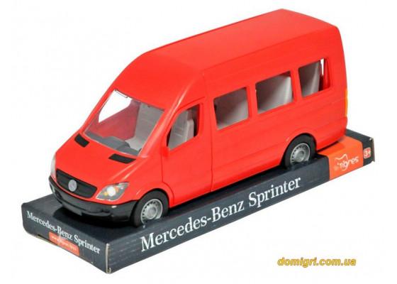 Mercedes-Benz Sprinter пассажирский (красный) на планшетке, 1:24, Tigres