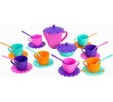 Ромашка, набір посуду з рожевим чайником, 28 предметів в коробці. Тигрес