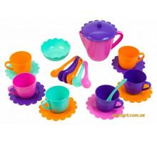 Ромашка, набір посуду з рожевим чайником, 22 предмета в коробці. Тигрес