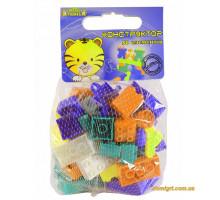 Конструктор 50 елементів (фіолетовий, помаранчевий, бірюзовий). Тигрес