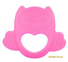 Игрушка-прорезыватель Сова, силиконовая, розовая, Canpol babies