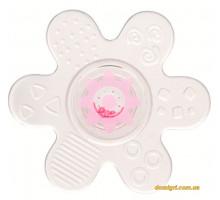 Игрушка-прорезыватель Звездочка, силиконовая, розовая, Canpol babies