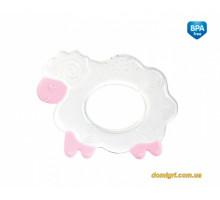 Прорезыватель для зубов силиконовый, розовая овечка, Canpol babies