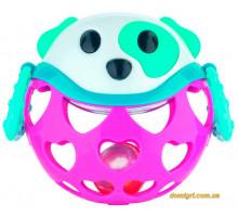 Игрушка с погремушкой Розовая Собачка, Canpol babies