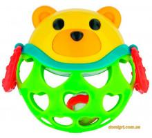 Игрушка с погремушкой Зеленый Мишка, Canpol babies