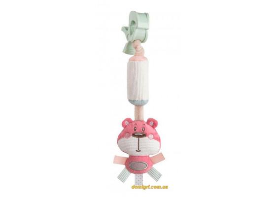 Игрушка с колокольчиком, розовая, Pastel Friends, Canpol babies