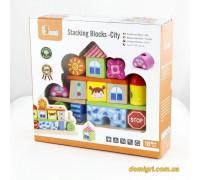 Набор кубиков Город (50043 Viga Toys)