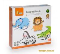 Шнуровка Дикие животные (51326 Viga Toys)