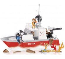 Конструктор Город Спасательный катер, 250 деталей (1464 Cobi)