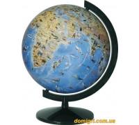 Глобус 260 мм физический с животными, лакированный, укр. (Институт ПТ)