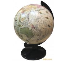 Глобус 32 см, Політичний під старовину з підсвічуванням (Інститут ПТ)