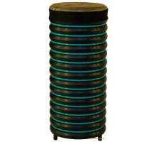 Барабан из натуральной кожи (51 x 22 см), бирюзовый, Trommus