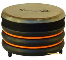 Барабан из натуральной кожи (18 x 28 см), оранжевый, Trommus