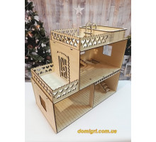 Дерев'яний будиночок для ляльок з басейном (ToysCo)