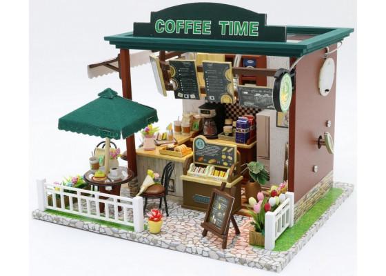 Мини-интерьерная модель ручной работы COFFEE TIME (С006)