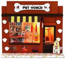 Мини-интерьерная модель DIY House Pet World (13505)