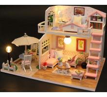 Мини-интерьерная модель DIY House Pink Loft (М033)
