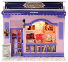 Мини-интерьерная модель DIY House Queen Shop (13506)