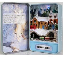 Мини-интерьерная модель DIY House Snow Castle (Е003)