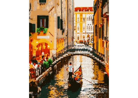 Картина по номерам Вечер в Венеции 50*60 см