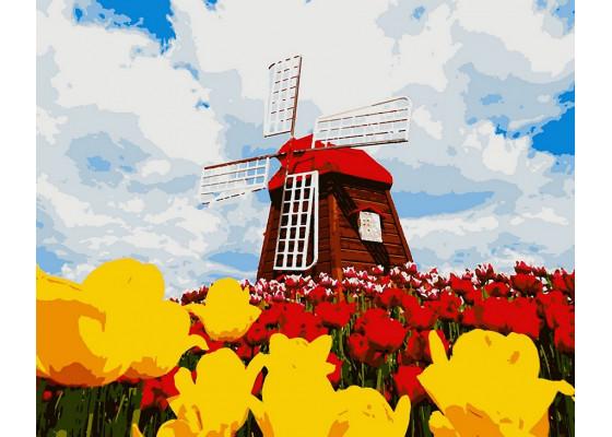Картина по номерам Цветущая Голландия 50*60 см