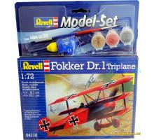 Model Set Самолет Fokker DR.1 Triplane, 1:72 (64116 Revell)