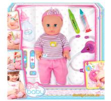 Пупс 32 см, с интерактивным набором врача (32004 Play Baby)