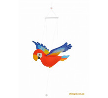 Мобайл деревянный goki Попугай GK454