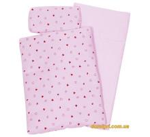 Набор для кукол goki Постельный комплект (розовый) 51861G