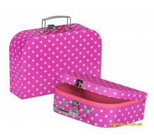 Набор игровых чемоданов goki Фиолетовые в горошек 60106G