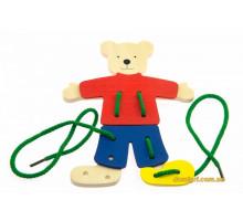 Шнуровка goki Медведь с одеждой 58929