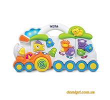 Музыкальная игрушка Паровозик с животными (2106 Weina)
