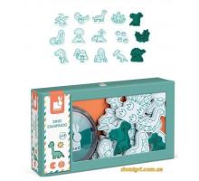 Набор для творчества Штампы Динозавры 15 шт. (J07796 Janod)
