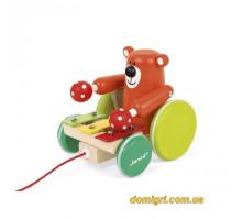 Іграшка-каталка Janod Мишка з ксилофоном J08193