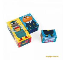 Кубики - Кот и пёс (6 эл.) (J02733 Janod)