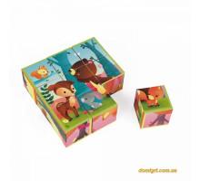 Кубики - Лесные животные (9 эл.) (J02731 Janod)