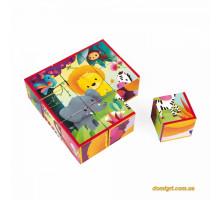 Кубики - Животные из джунглей (9 эл.) (J02732 Janod)