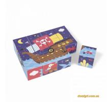 Кубики картонні Janod Пірати J02984