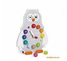 Розвиваюча іграшка Janod Годинник двосторонній Сова J08132