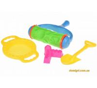 Набор для игры с песком с Валиком (зеленый) (4 шт.) (HY-1904WUt-1 Same Toy)